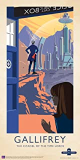 Culturenik Doctor Who Gallifrey Citadel of The Time Lords Illustration Sci Fi British TV Television Show Print (Unframed 12x24 Poster)