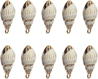 SUPVOX 10 Pcs Natural Conch Charms Sea Ocean Seashells Beach Charms Beads For Diy Craft Anklet Necklace Bracelet Findings ...