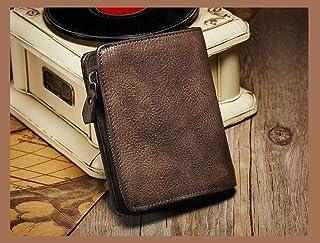 Hongzida Card Wallet Wallet For Wen New Top Layer Cowhide Short Wallet Men'S Retro Multi-Card Clutch-Bronze