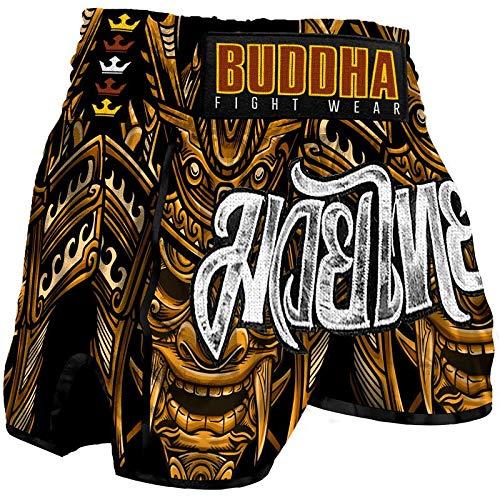 Pantalón Muay Thai Kick Boxing Buddha Retro Inca (XXXL (95 a 110 Kgs))
