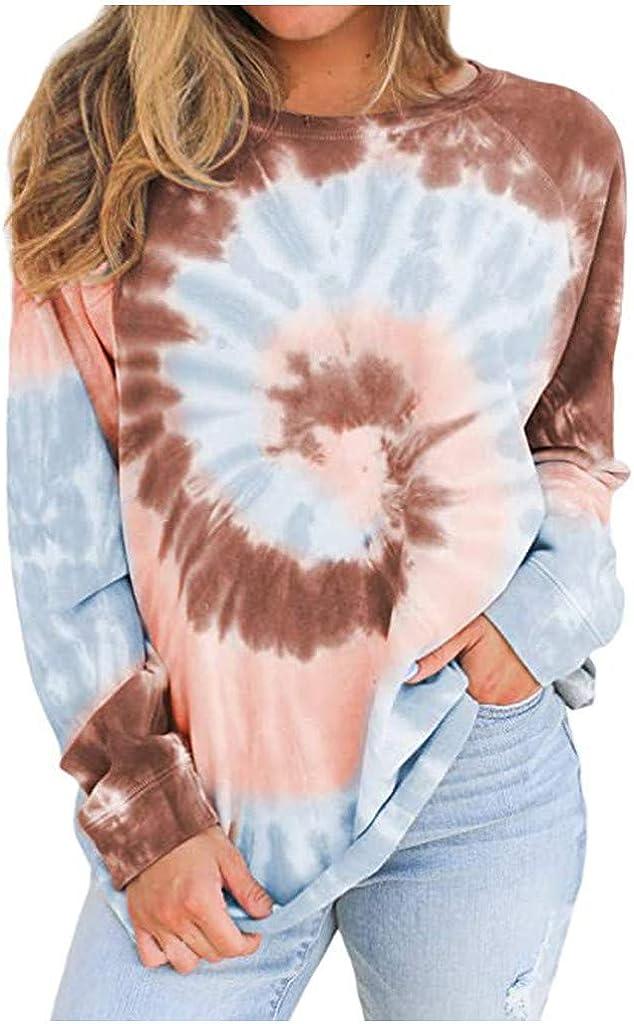 Pottseth Tunics for Women Summer,Short Sleeve Round Neck Gradient Printed Loose Tunic Tops Plus Size Blouse