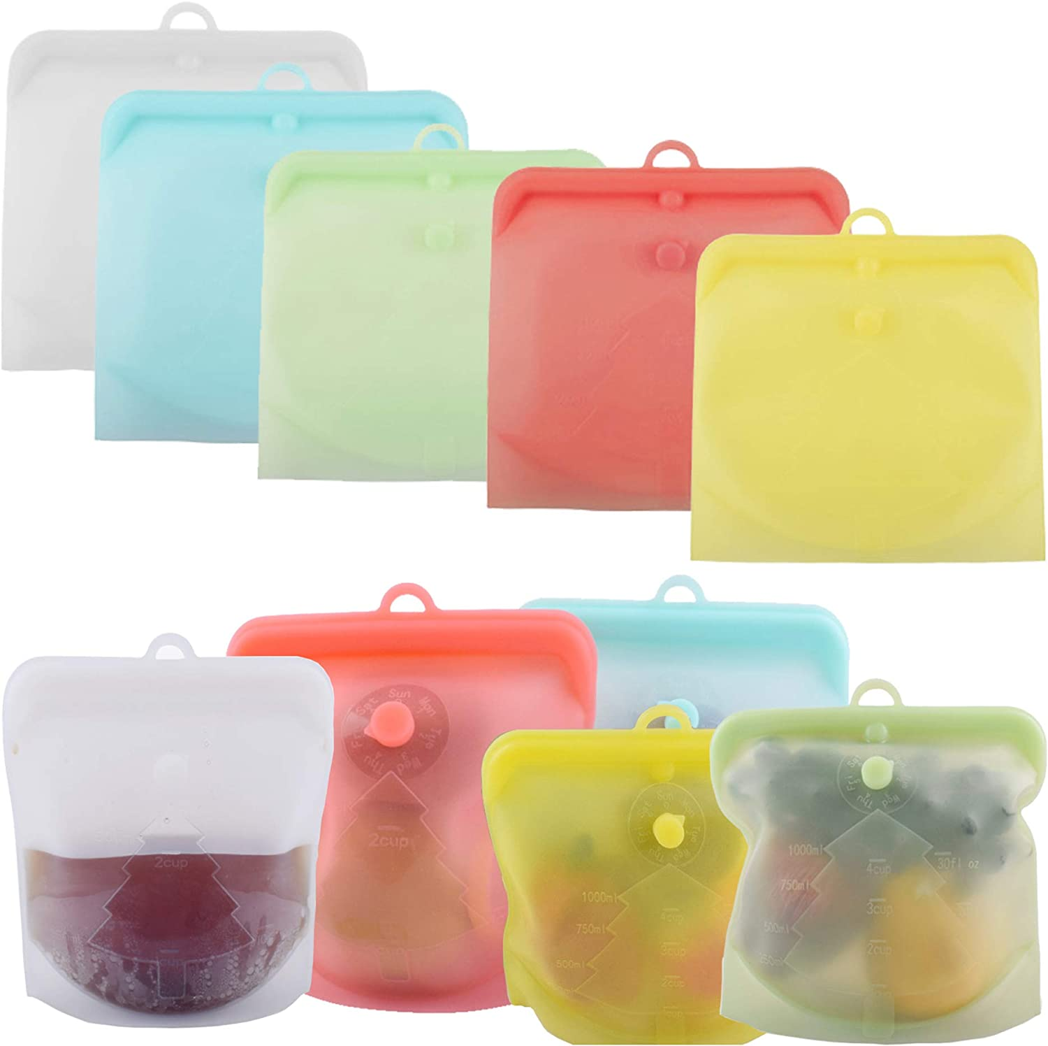 Silicone Food Storage Bags Fruit Reusable ※ラッピング ※ Meat ☆国内最安値に挑戦☆ Sto