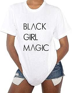 Black Girl Magic Women's Cute Graphic T Shirts Funny Tops Short Sleeve Tees Crewneck T-Shirt