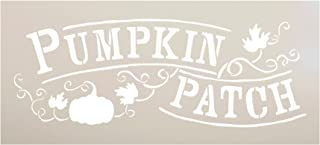 Pumpkin Patch Stencil by StudioR12 | Hand-Drawn Vines and Leaves | Reusable Mylar Template | Painting, Chalk, Mixed Media | Use for Wall Art, DIY Home Decor - Choose Size (12
