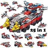 Yetech Vehículo de Combate Espacial Juguetes de construcción para niños,25 en 1 Stem Construcción Robot Juguete Ingeniería Building Blocks,Regalos Ideal para niños y niñas de 6 7 8 9 10 11 12 años
