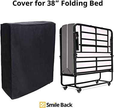 """Smile Back Universal Folding Bed Storage Cover for Twin, Rollaway Bed Cover, Dust Proof Bed Protector, Non Woven, Suit for 75"""" x 38"""", Easy to Take on/Off"""