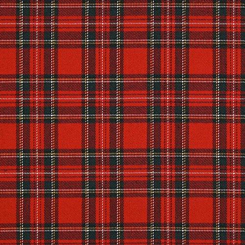 Schottenkaro Tartan Karo Klein – rot — Meterware ab 0,5m — zum Nähen von Blusen/Hemden, Röcke und Kleider