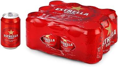 Cerveza Estrella Damm Pack de 12 Latas 33cl