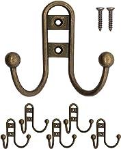 FUXXER® - Massieve ijzeren haken, garderobehaken, handdoekhaken, kledinghaken, ijzeren haken antiek messing brons design, ...
