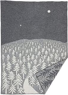 クリッパン(KLIPPAN)×ミナ ペルホネン(mina perhonen) 225101 ウールシングルブランケット ハウスインザフォレス 130×180cm グレー(グレイ) 【並行輸入品】