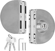 Precisie deurslot YG-1001 roestvrij ijzeren semi-circulaire dubbele glazen deurslot grendel voor thuisbadkamer Legering ma...