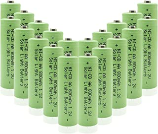 QBLPOWER NICD AA 800mAh 1.2V Rechargeable Battery for Outdoor Solar Lights Lamp Garden Yard Lawn(20 Pieces)