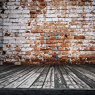 Mörk väggbakgrund för fotografering tegel trägolv glänsande strålkastare scenen fest docka baby fotozon fotobakgrund A27 2...