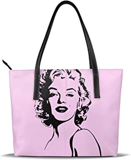 Cuero Bolso Ma-Rilyn Mo-nroe Leather Tote Shoulder Bags Handbags For Women Girl Or Student