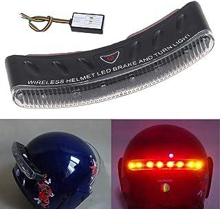 Casco de la Motocicleta Luz de Freno 8 LED Indicador de luz Intermitente de Advertencia de señal de Giro a Prueba de Agua