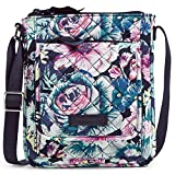 Vera Bradley Signature Cotton Mini Hipster Crossbody Purse with RFID Protection, Garden Grove