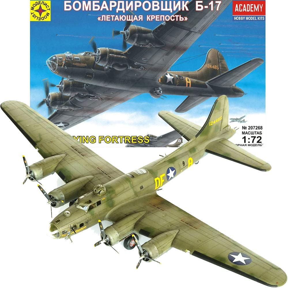 B17 Model Airplane Kit 1/72 Scale - Heavy Bomber B 17 Flying Fortress American WWII Aircraft - Russian Military Model Kits Airplane Assembly Instructions in Russian Language