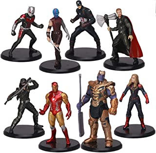 JVNVDS Super Heroes Figures Cake Decorations, Home Decoration. Titan Hero Sculpture Worth Collecting (8 Pieces) About:3-5in