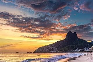 Ipanema Beach Padre Dois Irmaos Rio De Janeiro Photo Photograph Cool Wall Decor Art Print Poster 36x24