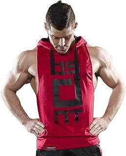 Mens Gym Stringer Tank Top Bodybuilding Athletic Workout Muscle Fitness Vest Red