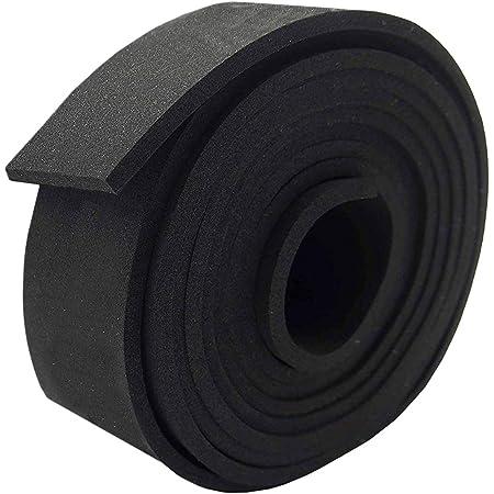 Weather Strip Roll Insulation Foam Strips Weather Seal High Density Stripping 2 Wide x 10 Long x 1//8 Thick 10 Feet Long Neoprene Foam Strip Roll by Dualplex