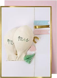 Meri Meri Wedding Mr & Mrs バルーンカード