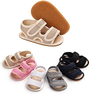 Sinwasd Sandals Toddler New Flowers Girls Sandals Soft-Soled Princess Led Light Luminous Baby Shoes Magic Tape 0-18 Month