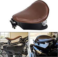GDAUTO Brown Leather Driver Solo Seat Baseplate Pan Spring Bracket Mount Kit for Harley Sportster Chopper Bobber