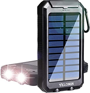 Solar Charger,YELOMIN 20000mAh Portable Outdoor Solar Power Bank for Cell Phones,Camping External...