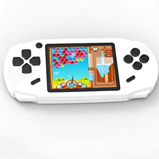 Beijue 16 Bit Handheld Games for Kids Adults 3.0'' Large Screen Preloaded 100 HD Classic Retro Video Games no Need WiFi USB Rechargeable Seniors Electronic Game Player Birthday Xmas Present (White)