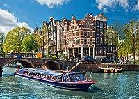 XiuTaiLtd アムステルダム運河のジグソーパズル1000個、ホリデーギフト、75x50cm
