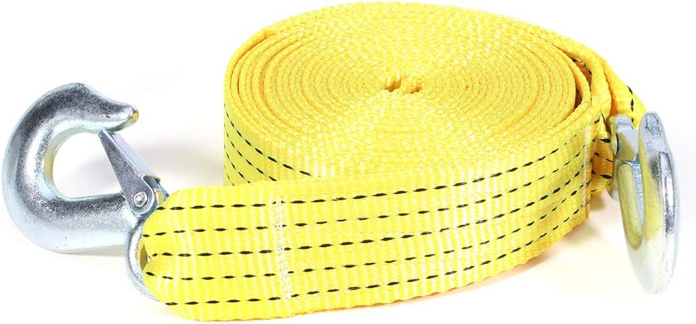 Tow Cheap mail order shopping Strap Soft Loop Tie Down Breakin with Alternative dealer Yellow 10000 LBs