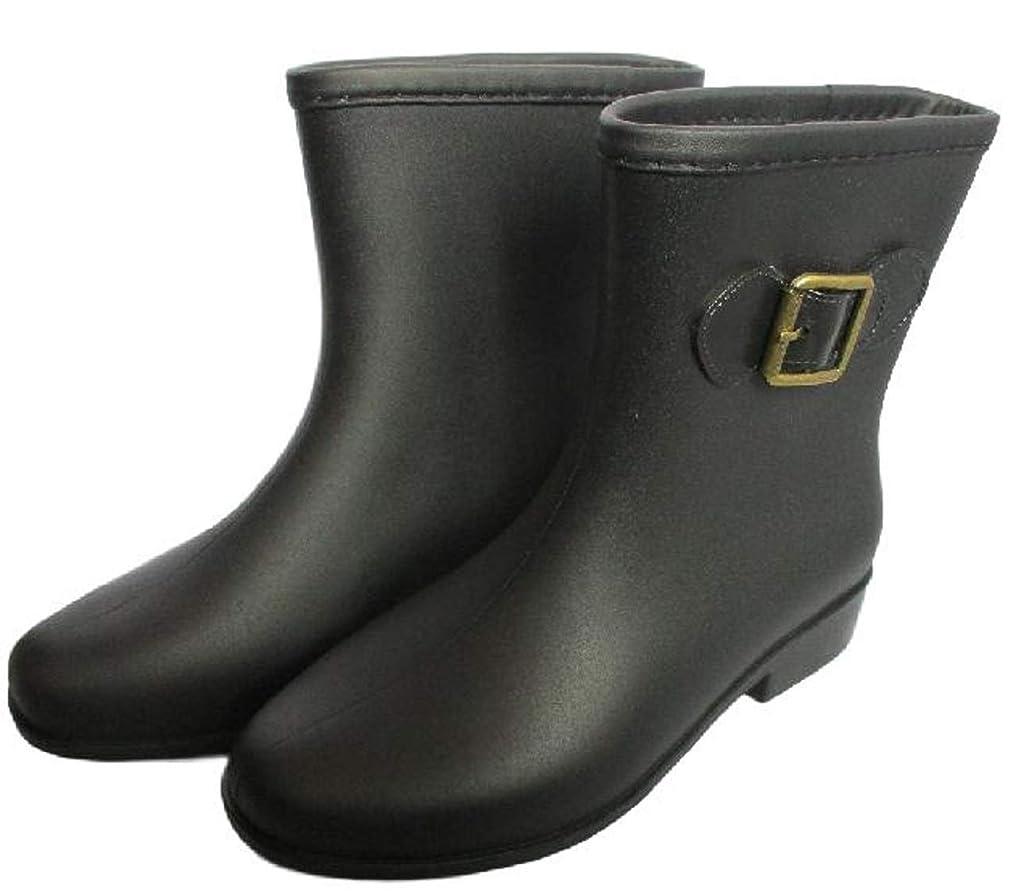 アドバンテージ貫通する無謀[CAWKAY] レインシューズ レディース 無地 ショート ブーツ 長靴 レインブーツ レインシューズ ミドルブーツ シンプル デザイン