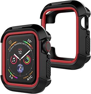 UooMoo Compatible with Apple Watch 4/5 case 40mm, TPU Shockproof Rugged Full-Protective Bumper Cover for iWatch Apple Watc...