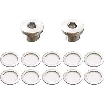 OEM Crush Aluminum Oil Drain Plug Gasket Washers For Porsche Prime Ave 10