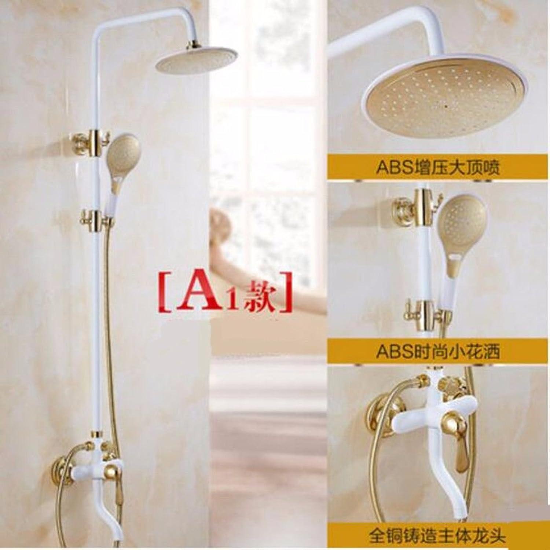 ETERNAL QUALITY Badezimmer Waschbecken Wasserhahn Messing Hahn Waschraum Mischer Mischbatterie Tippen Sie auf die Grillen weie Farbe Dusche kit Wei voll Kupfer Wasserha