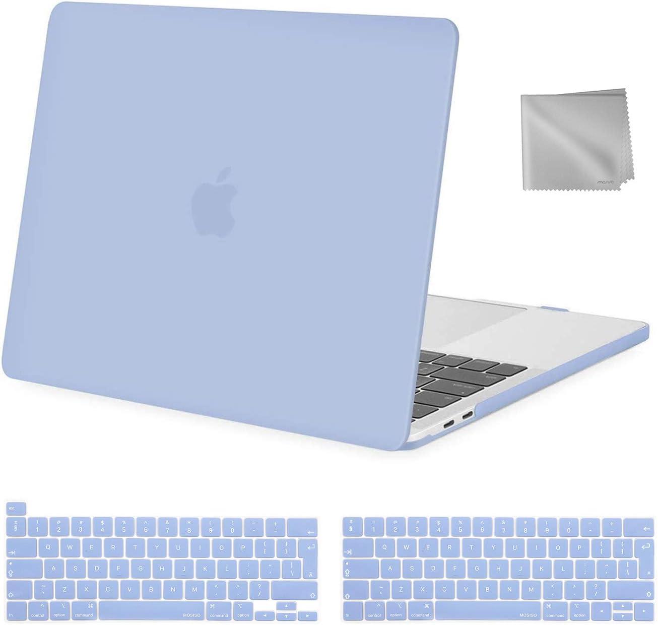 Plastique Coque Rigide/&Protection Clavier/&Essuyer Chiffon Vert Minuit MOSISO Coque Compatible avec MacBook Pro 13 Pouces 2020-2016 Version A2338 M1 A2251 A2289 A2159 A1989 A1706 A1708