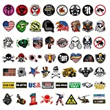 Hard Hat Stickers Pack, 100Pcs Waterproof Vinyl Sticker for Helmet, Tool Box, Thermos, Laptop, Funny Sticker Decals for Adults, Construction, Lineman, Ironworker, Union, Oilfield, Military, Welders