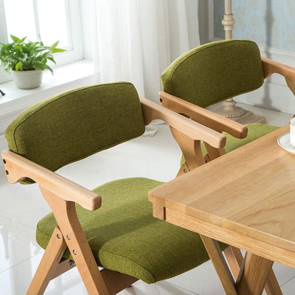 Chaise de salle à manger pliante moderne Fauteuil minimaliste en bois massif Chaise de loisirs créatifs (Color : Beige) Blue