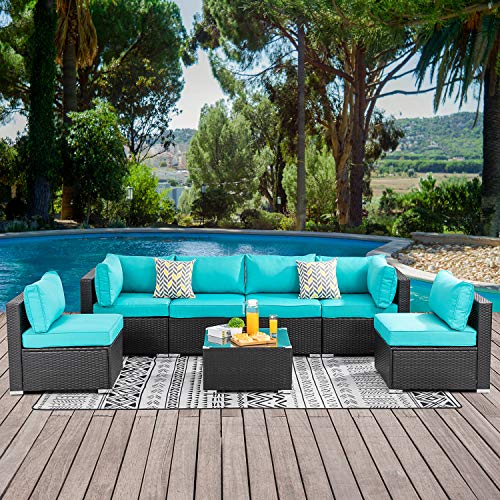 Walsunny 7pcs Patio Outdoor Sectional