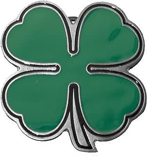 Irish Four Leaf Clover Green Belt Buckle for Shamrock