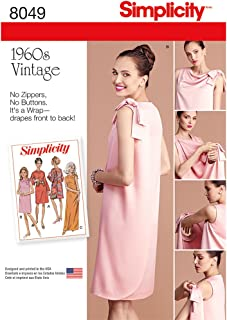 Simplicity 8049 1960's Vintage Fashion Women's Three Armhole Dress Sewing Pattern, Sizes 8-16