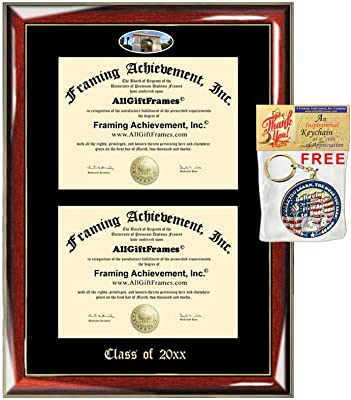 Amazon com - AllGiftFrames Double Certificate Frame