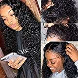 Curly Human Hair Lace Front Wigs Pre Plucked with Baby Hair Brazilian Virgin Human Hair Water Curly Wave Ear to Ear Lace Frontal Wigs Deep Curly Human Hair Wigs Brazilian Virgin Hair Wet and Wavy Wigs