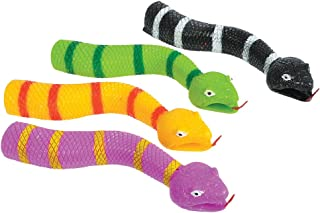 Set Of 24 Assorted Color Medusa Snake Finger Puppets Costume Accessory