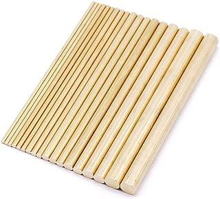 PGCOKO 18Pcs Brass Solid Round Rod Lathe Bar Stock Assorted for DIY Craft Tool Diameter 2-8mm Length 100mm