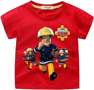 Boys' The Fireman Sam Short Sleeve Tee Toddler Boys' Cartoon T-Shirt