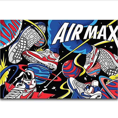 tgbhujk Air MAX 30 Anniversary Shoes Sneaker Moda Arte de la Pared Pintura Impresión en Lienzo de Seda Cartel Decoración del hogar 50X70Cm Sin Marco