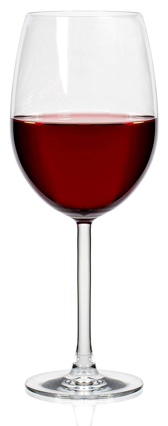 ネブメキシコ食い違いPremium Collection 大きなクリスタルクリアレッドワイングラス 24オンス 6個セット