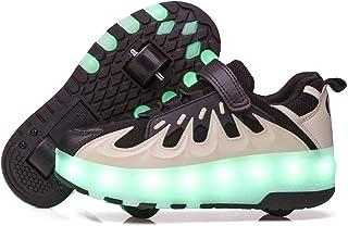 LWH Rolschaatsen, led-lichtschoenen, USB-oplaadbaar, intrekbare rolschaatsen, twee/eenwielig, verschillende stijlen, vrije...